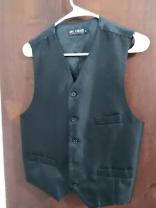 Umo Lorenzo Formal Suit Vest- Black Size (Small)