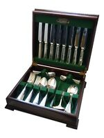 ELKINGTON Cutlery - SALISBURY / AEGEAN Pattern - 73 Piece Canteen Set for 8