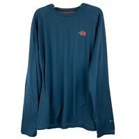 The North Face Blue T Shirt  Size L Teal Blue Long Sleeve