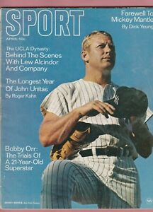 Sport Magazine , April 1969 , Mickey Mantle, Johnny Unitas,Bobby Orr and Lew Alc