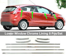 8PCS FIT FOR FORD FIESTA 5-DR HATCH CHROME WINDOW LINE SILL MOLDING TRIM ACCENT
