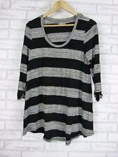 SUSSAN Top/blouse Sz S, 10 Black, grey stripe
