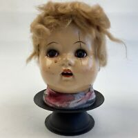 OOAK Vintage Baby Doll Head Creepy Halloween Decor Oddity Prop Horror Macabre