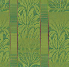 Barbados Peridot Lime Green Leaf Stripe Crypton Upholstery Fabric 0405655