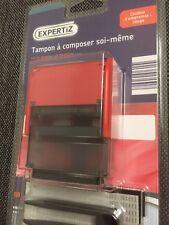 tampon encreur  Trodat 58x22 mm  4 lignes max marqueur de texte encre Rouge