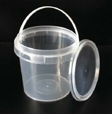 40 pcs. CLEAR 1000ML Plastic Buckets Tubs Containers with Lids Food grade