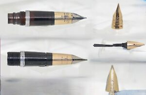VINTAGE LOT OF SEVEN 14CT GOLD SHEAFFER FOUNTAIN PEN NIBS