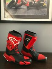 Alpinestars Supertech Motorcycle Boots - Signed by GP Racer Kevin Schwantz