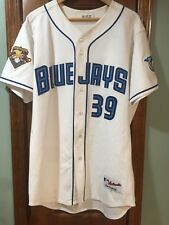 Toronto Blue Jays 2001 25th Anniv Steve Parris Game Worn Jersey - 2 Patches