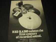 RKO RADIO 1977 promo ad WRKO/WROR Bos. WFYR Chi. WAXY Ft. Lauderale WHBQ Memphis