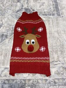Simply Dog Sweater Multicolored Warm Sweater Size Small Rudolph Christmas