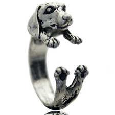 PUPPY DACHSHUND WEENIE DOG SILVER RING NEW!