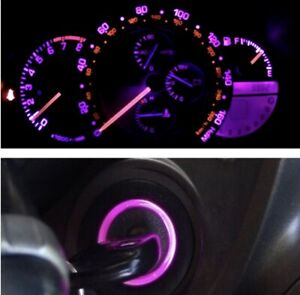 Pink / Purple Cluster and Key Ring Led Bulb Combo Kit for Lexus IS300 2001-2005