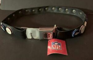 NFL Denver Broncos Bottlecap Seatbelt Black Belt Size Small Up To 30 Inch Waist