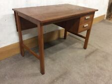 Vintage Retro small Single Pedestal  teachers school / office Desk