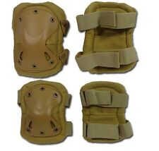 KIT GINOCCHIERE E GOMITIERE TACTICAL SOFTAIR PAD TAKK TAN AIRSOFT KNEE+ELBOW