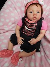"""Sweet HtF 20"""" Reborn Baby Girl Doll Soledad by Ping Lau Resell"""