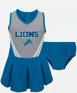 NFL DETROIT LIONS InfantToddler Girls In The Spirit Cheer SetSize 18mo BRAND NEW