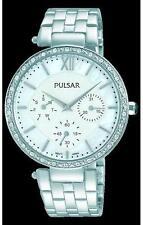 Pulsar Damen Silber Swarovski Kristall verziert Kleid Watch PP6211 UK Verkäufer