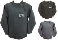 BOYS JUMPER KNITWEAR TOP FBI SIDE ZIP 2-11 YEARS BNWT