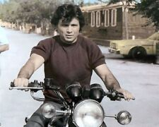 "ROBERT BLAKE ITALIAN AMERICAN ACTOR MOTORCYCLE 8x10"" HAND COLOR TINTED PHOTO"