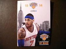 New York Knicks 2013-14 NBA pocket schedule - Carmelo Anthony