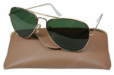 Vintage US Fighter Pilots AVIATOR SUNGLASSES Top Gun Style Air Force USAF Shades