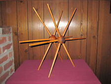 Antique Wood Decorative Object As Art Spindle Spinning Textile Interior Decorate