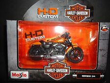 Maisto Harley Davidson Sporster Iron 883 Orange 2014 S34 Series 34 1/18