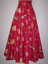 BNWT Laura Ashley Vintage REVERIE Passion Rose Full Circle Jupe longue, taille 8 UK