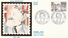Enveloppe 1er Jour BAR-SUR-AUBE 23/06/1984 Gaston BACHELARD timbrée