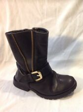 Girls Next Black Leather Boots Size 11