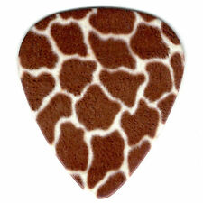 6 Pack GIRAFFE ANIMAL PATTERN Africa Medium Pick Gauge 351 Guitar Picks