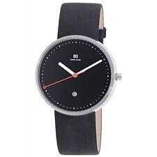 Danish Design IQ13Q723 Black Dial Steel Quartz Leather Classic Men's Watch