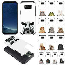 For Samsung Galaxy S8+ Plus G955 Animal Design Fusion Hybrid Silicone Case Cover