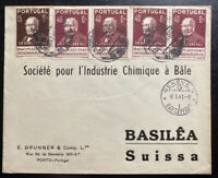 1940 Porto Portugal Commercial Cover To Chemical Society Basel Switzerland
