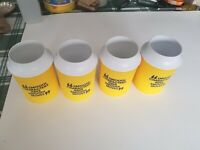 Vintage Camel Smooth Character Yellow Coozie Lot of 4, Collectible