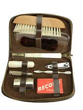 Vintage Mens Leather Travel Grooming Shaving Leather Case Kit Vanity Austria
