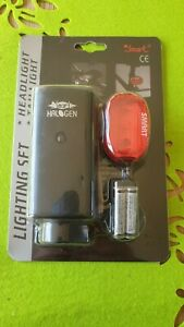 Smart Halogen Light Set. Front and rear cycle lights. New.