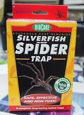 NEW Box of BioCare SILVERFISH & SPIDER TRAP (6 Traps)
