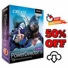 CyberLink PowerDirector Ultimate 18 🔥 Life time Activated 🔥 30s Delivery