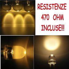 100 diodi led bianco CALDO alta luminosità 10 mm con 100 RESISTENZE in OMAGGIO