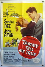 Sandra Dee Tammy Tell Me True ORIGINAL 1960s 1-Sheet Movie Poster John Gavin
