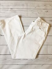 Per Una Jeans UK 12 White Bootcut Stretch Marks And Spencer Spring Summer