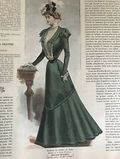 French MODE ILLUSTREE SEWING PATTERN Dec 4,1898 VISITING DRESS, MANTELET