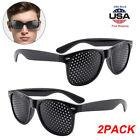 2X Pinhole Glasses Small Holes Vision Correction Eye Exercise Anti-Myopia Unisex