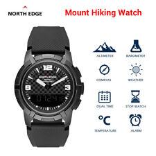 NORTH EDGE Hiking Sport Watch Compass Time Climbing Wrist Watch Outdoor Black
