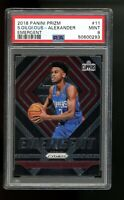 2018 Panini Prizm Emergent 11 Shai Gilgeous-Alexander Thunder Clippers RC PSA 9