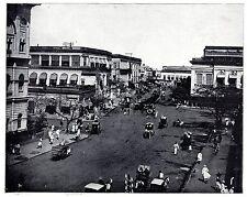 Die Clive Street in Calcutta Indien englische Kolonie Bilddokument um 1904