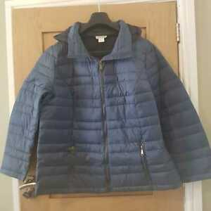 Collection Petrol Blue Womens Puffer Jacket Coat - Size 22 UK Plus Size - New